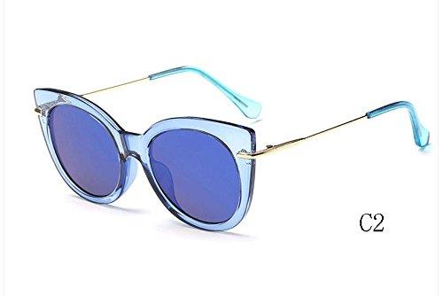 mujeres de de C2 de caramelo UV400 espejo Sunglasses ojo gato Gafas sol Gafas 025 de de gafas tonos sol 025 de TL C7 xBqYE0Ix
