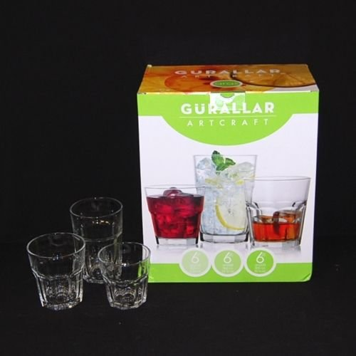 ARAS1 18 Piece Tumbler Set - Gift Box [Set of 2]