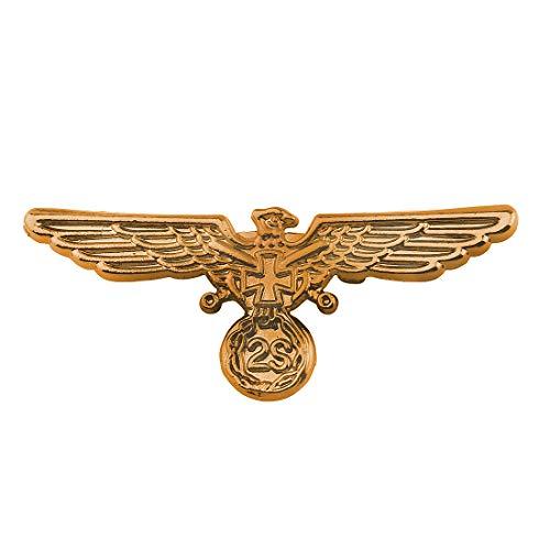 Bald Eagle Pin - Zuo Bao Soldier Warrior Army Brooch Pin American Bald Eagle Lapel Pin Masonic Knights Templar Crusader Cross Lapel Pin Freemasonry Military Pilot Jewelry (Gold)