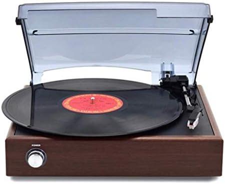 ALIZJJ ビニールレコードヴィンテージレコードプレーヤービニールプレーヤーの音楽ビニールターンテーブルのための内蔵スピーカーとレコードプレーヤーターンテーブルビニールレコードプレーヤー