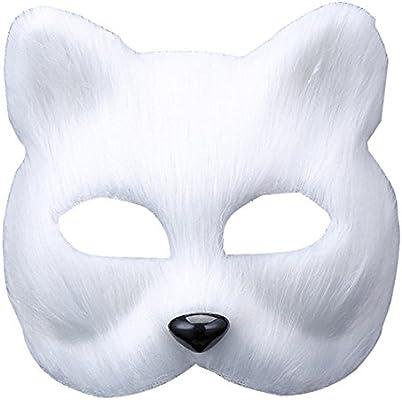 UClever Halloween Traje zorro Cabeza Máscara Mascarilla ...