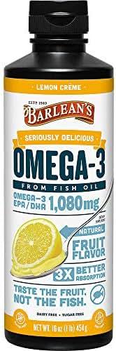 Barlean?s Seriously Delicious Omega-3 Fish Oil, Lemon Cr�me, 16-oz