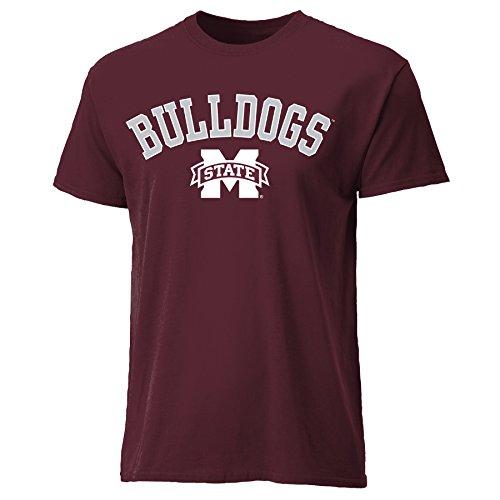 Ouray Sportswear NCAA Mississippi State Bulldogs Mens NCAA Men's Diamond Plate Tee, Maroon, Medium