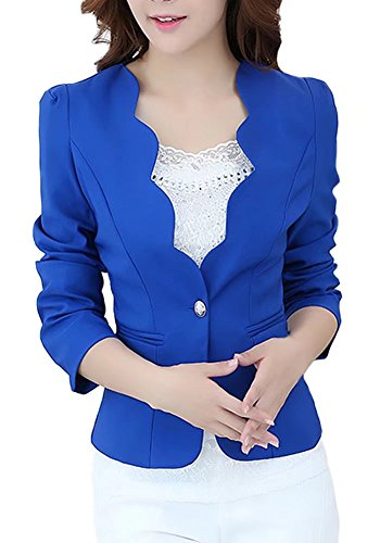 LATUD-Womens-One-Button-Curved-Blazer-Jacket