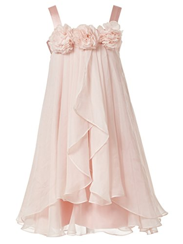 (Princhar Girl's Blush Pink Flower Girl Dress Girls Toddler Party Dresses US 10T Blush)
