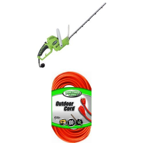 GreenWorks 22122 4 Amp 22-Inch Corded Hedge Trimmer with Rotating Handle