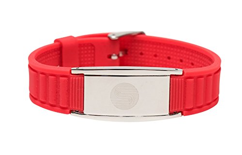 4 in 1 Satori Negative Ion Band (Coral), Now Available in US with a 4.5 Star Amazon rating in UK/Euro, Germanium, Silicone,Charged With Negative Ions, The Ionic Wristband And Stylish Therapy Bracelet