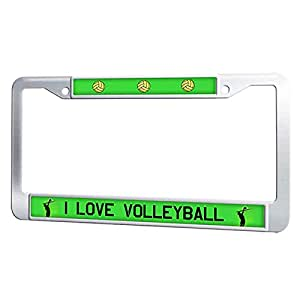 Amazon Com I Love Volleyball License Plate Frame