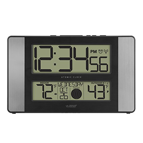 La Crosse Technology 513-1417AL-INT Atomic Clock W Outdoor Temp (Online Wall Clock Digital)