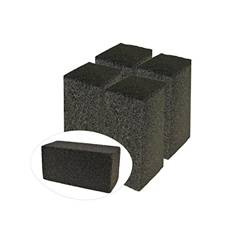 (Gulf Highway Commercial Grade Grill Cleaning Brick Bulk 4 Pack by Pumice Stone Cleaner Tool Cleans Restaurant Flat Top Grills, BBQs or Griddles Effectively Without Harsh Chemicals or Abrasives)