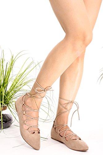Marilyn Moda Sopra Le Caviglie Look Auto Design Casual Scarpe Casual Nude