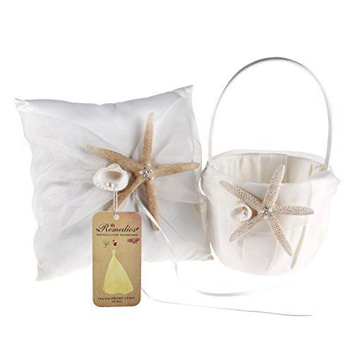 Ivory Flower Girl Baskets Australia : Remedios satin and organza ivory wedding ring pillow