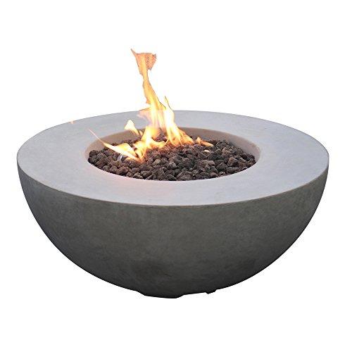 Modeno Roca Concrete Propane Fire Table, Outdoor Fire Pit Table/Patio Furniture,...