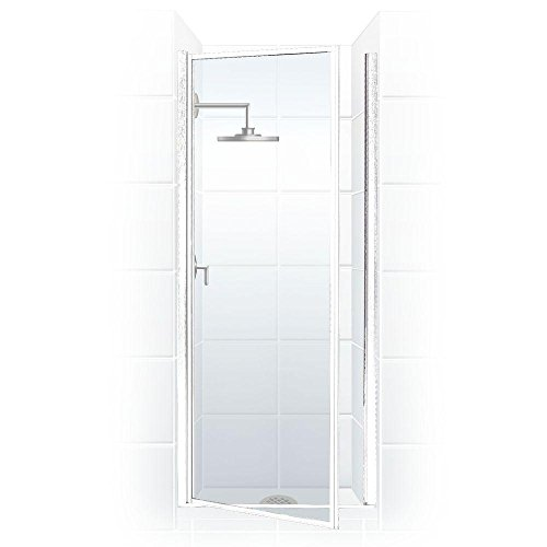 Coastal Shower Doors Legend Series Framed Hinge Shower Door In Clear Glass, 26