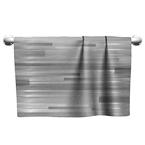 alisoso Modern,Travel Towels Futuristic Striped Web Forms Artistic Contemporary Graphic Fusion Artwork Print Absorbent and Super Soft Towels Silver Grey W 14