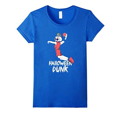 Player Costume Basketball Toddler (Womens Halloween Basketball Skeleton Dabbing T-Shirt - Kids Costume Large Royal)