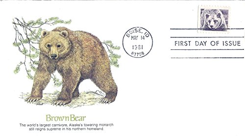 Fdc Bear - FDC First Day Cover 1981 Brown Bear 18 Cent Postage Stamp Sc#1884