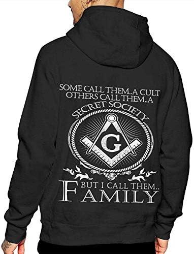 angwenkuanku Herren Hoodies Freemason Secret Society 3D Full Print mit Taschen Pullover Sweatshirts