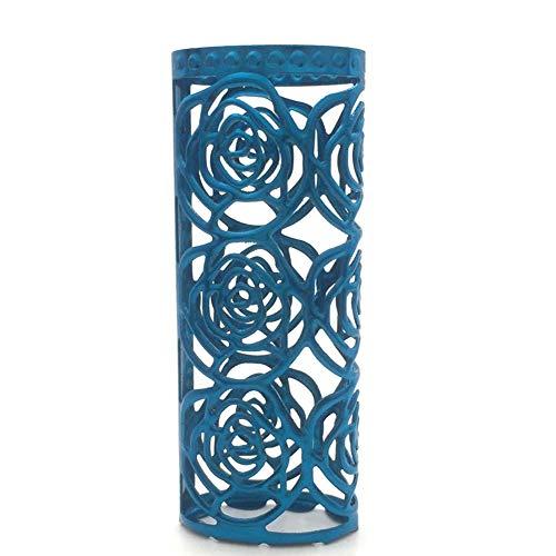 Lucklybestseller Metal Lighter Case Cover Holder Rose Hollow Blue Color For BIC Full Size Lighter Type J6