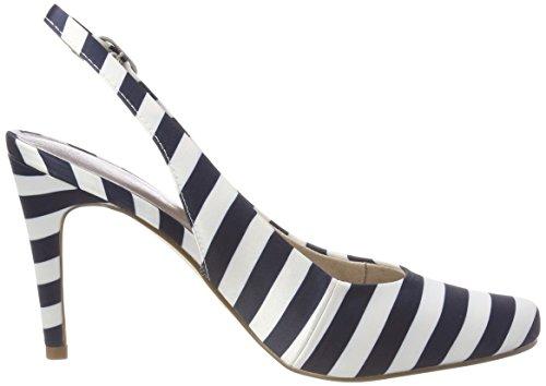 Bleu Bride Tamaris Sandales Arrière Femme 29614 Navy Stripes wXCqCTE