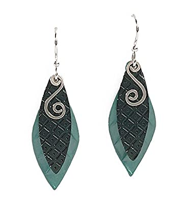 e4166dcae Amazon.com: Jody Coyote Earrings SMP900-01 Eden Collection silver green:  Jewelry