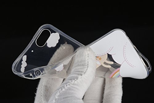 Funda para iPhone 6 6S, funda de silicona transparente para iPhone 6 6S, iPhone 6 6S Case Cover Skin Shell Carcasa Funda, Ukayfe caso de la cubierta de la caja protectora del caso de goma Ultra Delgad Cervi Arcobaleno