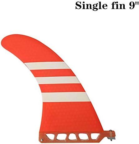 サーフロングボードフィンサーフィンシングルフィンスタンドアップパドルレッド/ブルーの色で9インチBarbatanaサーフ9インチフィングラスファイバーBarbatana