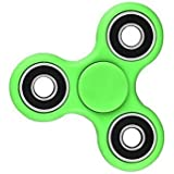 Premsons Fidget Spinner 608 Four Bearing Hand Tri-Spinner Toy, Light Green with Black Wing Bearings