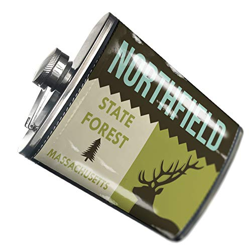 Light Northfield One (NEONBLOND Flask National US Forest Northfield State Forest Hip Flask PU Leather Stainless Steel Wrapped)