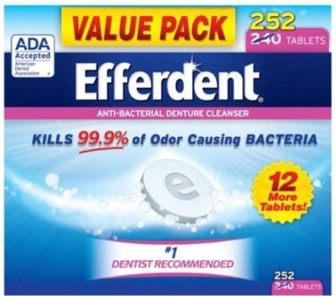 Efferdent Anti-Bacterial Denture Odor Cleanser (252 (Dental Cleanser)