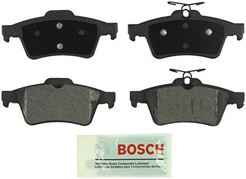 (Bosch BE1095 Blue Disc Brake Pad Set For: Cadillac; Chevrolet; Ford Focus, Escape; Jaguar; Mazda; Pontiac; Saab; Saturn; Volvo, Rear)