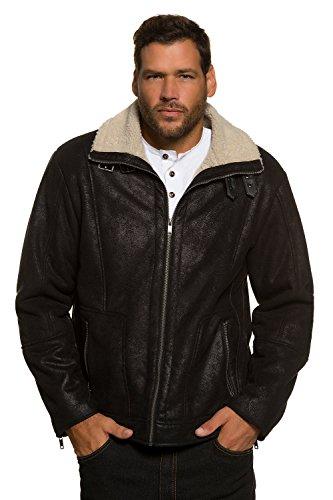 JP 1880 Homme Grandes tailles Veste - Faux cuir - Fermeture éclair - effet fausse Peau retourné noir XXL 705521 10-XXL