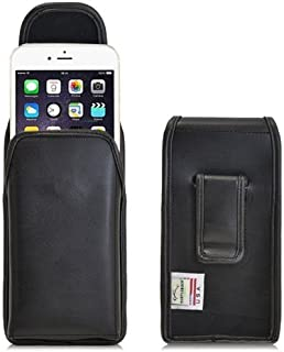 product image for Turtleback Holster Made for Apple iPhone 6 Plus + 6S Plus Black Vertical Belt Case Leather Pouch with Executive Belt Clip Made in USA