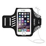 EWWE Water Resistant Sports Armband Arm Case Holder with Fingerprint Touch for 5.5 inch iPhone 8 Plus, 7 Plus, 6 Plus, 6S Plus - Adjustable Reflective Velcro Workout Band