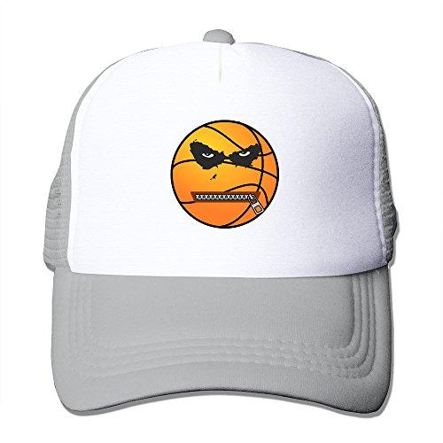 mzone-adjustable-flat-billed-cap-hats-basketball-logo-sporting-visor-cap-ash