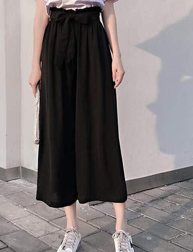 Nero da Active YFLTZ donna unita unica Black Taglia Pantaloni Tinta Chino fxRw10