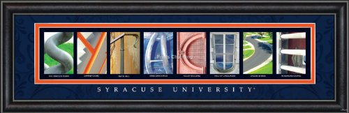 Prints Charming Letter Art Framed Print, Syracuse University-Syracuse, Bold Color - In Syracuse Malls