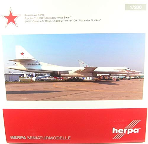 Herpa Wings 559287 Russian Air Force Tu-160 'Alexander Novikov' 1/200 Scale
