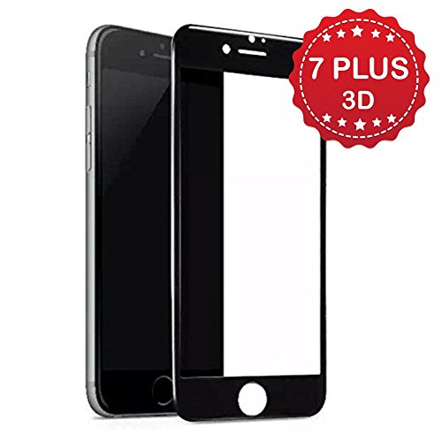 Premium iPhone 7 Plus 5.5 inch iPhone 7+ Screen Protector , YaSaShe Anti-burst Tempered Glass Screen Protector 5.5'' (iPhone 7 Plus Jet (Screen Protector Jet)