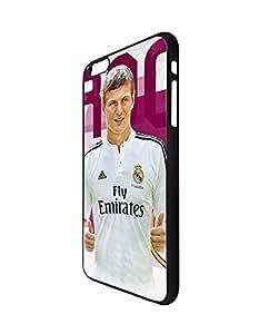 Iphone 6 plus Fundas Case Football Club for Man, Iphone 6s Plus Fundas Case Toni Kroos Football Player- Iphone 6/6s Plus (5.5 Inch) Fundas Case Football Team Logo