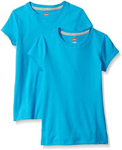 Hanes Little Girls' Jersey Cotton Tee (Pack of two)