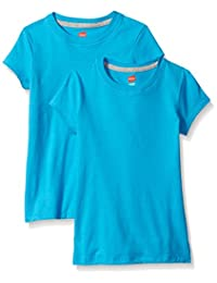 Hanes Girls Jersey Cotton Tee (Pack of 2) Shirt