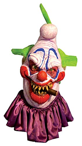 [Big Boss Insane Evil Scary Clown Horror Latex Adult Halloween Costume Mask] (2 Person Halloween Costume)