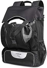 ESTARER Soccer Bag Backpack Fit Baseball Basketball Football Volleyball w/15.6inch Laptop Compartment Sport Ba