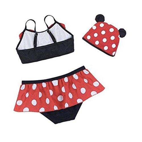 dc1d38366c1b 3pcs Baby Kid Girl Swimsuits Bathing Polka Dots Bowknot Swimwear Tankini  Dress (S Age 2