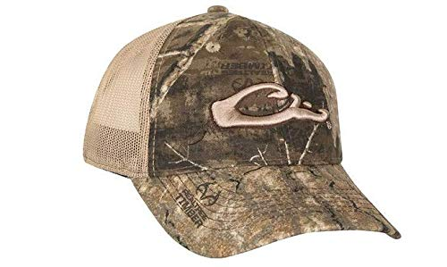 Drake Mesh Back 6-Panel Camo Logo Cap Realtree Timber Camo