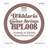 D'Addario Single Brass Plated Steel 010 Strings