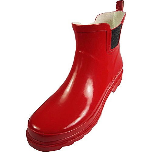 Red Womens Shoe Gloss (NORTY - Womens Ankle High Rain Boot, Red 39718-9B(M) US)