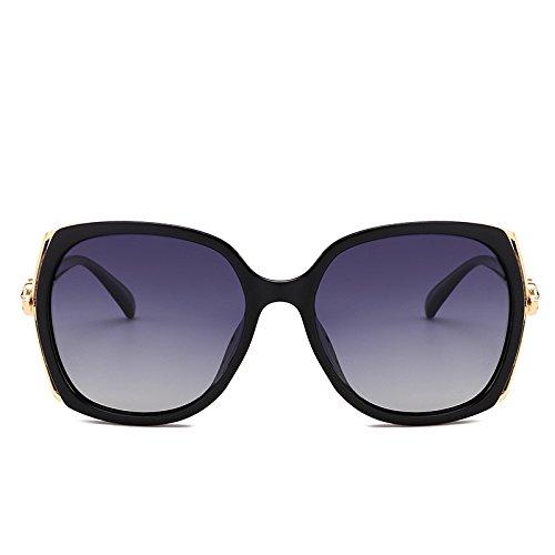 de Caja polarizador de elegantes de conducción sol Gafas las de de gafas Shop cara redonda Negra chica la sol señoras sol 6 de de Gafas señoras las TxOnwq14
