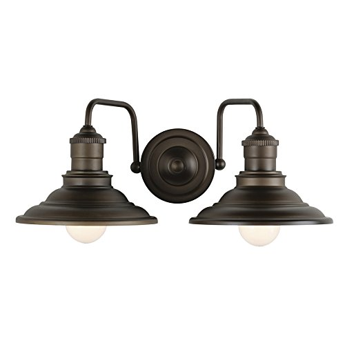 allen + roth Hainsbrook 2 Light Aged Bronze Bathroom Vani...
